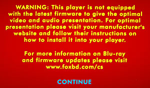 Blu-ray disc warning message