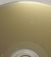 Scratched Blu-ray disc