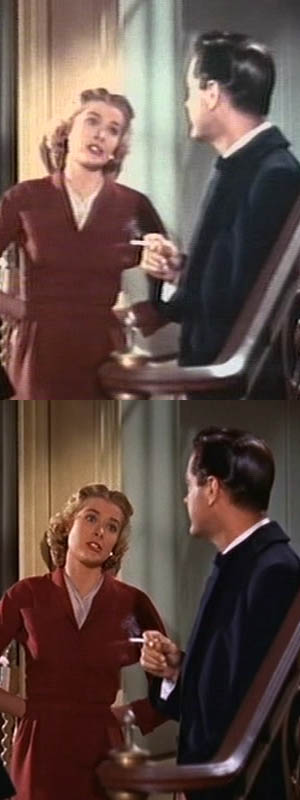 Dial M for Murder: top is from cheap Hong Kong DVD, bottom is recorded from TV