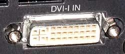 DVI-I input on NEC WT600 projector