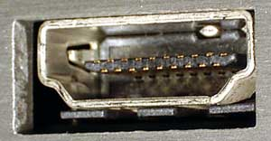 HDMI output socket