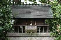 1/8th scale shrine in garden at Panasonic complex, Osaka, Japan