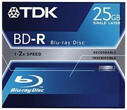 TDK 25GB recordable Blu-ray disc