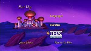 Setup panel on 'Aladdin' DVD