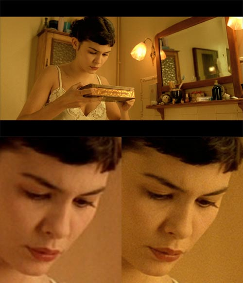 Blu-ray vs DVD comparison for Amelie