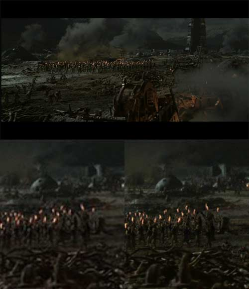 Lord of the Rings: The Two Towers comparison