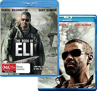 The Book of Eli Blu-ray, Australian on top, US on bottom